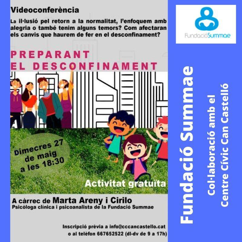 Videoconferencia: Preparando lo desconfinamento. Miércoles 27 de mayo a las 18:30.
