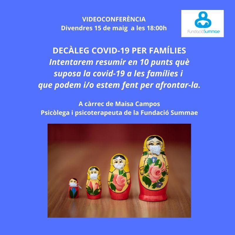 Videoconferencia. Viernes 15 de mayo a las 18:00h